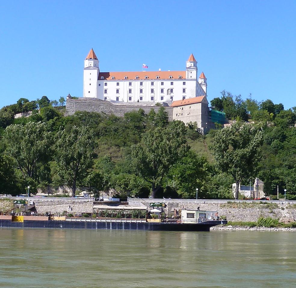 Bratislava Castle by the Danube in Slovakia.