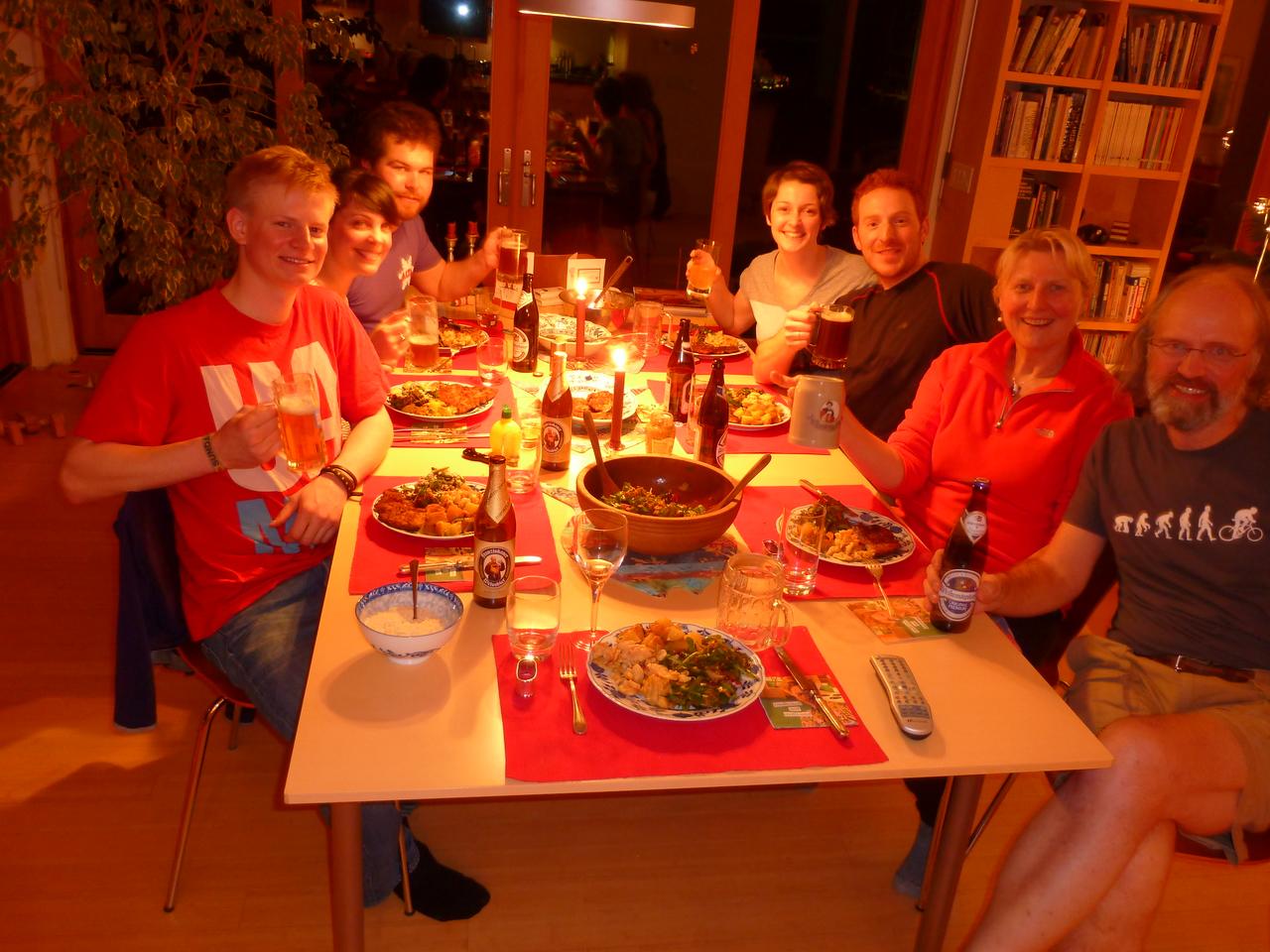 The amazing Schnitzel dinner!!!
