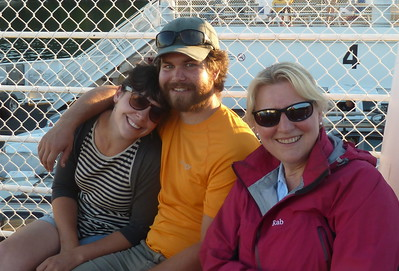 On the ferry from Victoria to Salt Springs Island with Bethany and Andrew in BC, Canada.