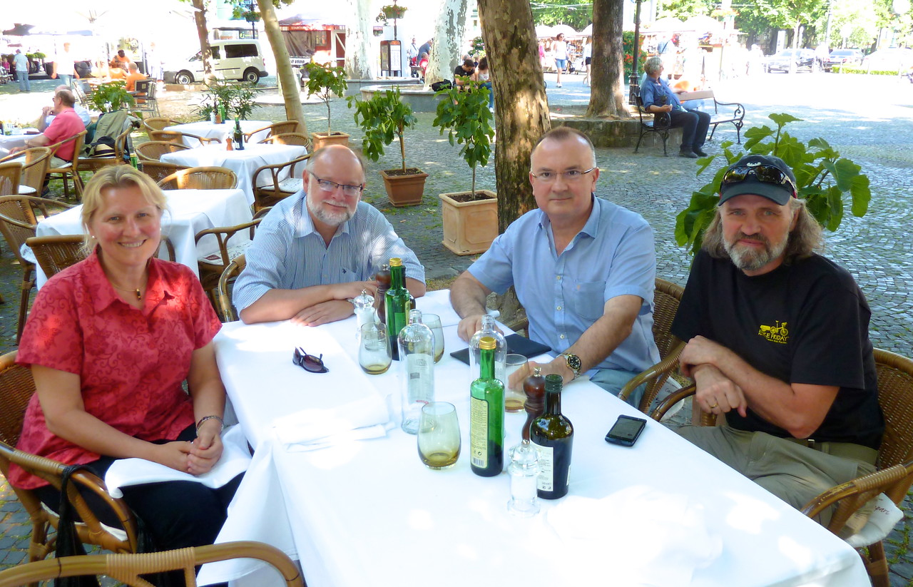 And a leiesurely and relaxed lunch with Wojciech and Robert.
