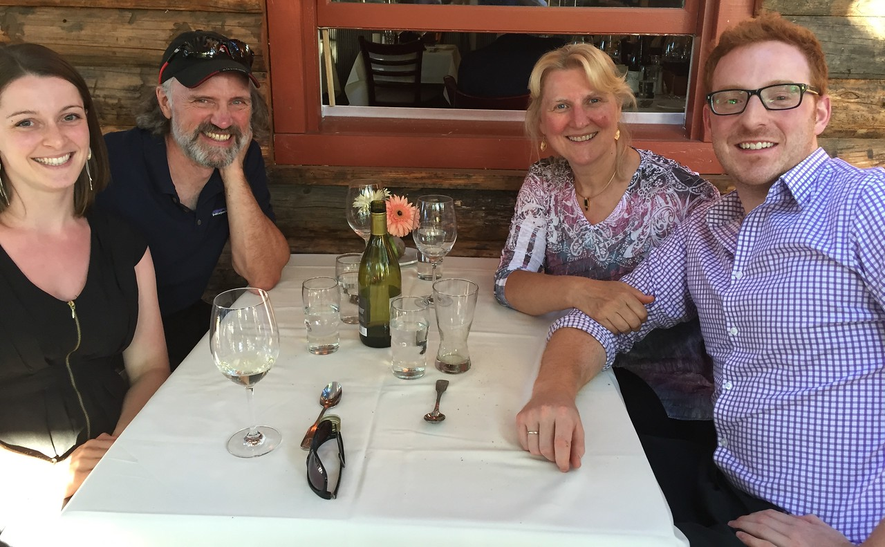 """June 14, 2015: Lovely week in SunValley with Niel and Miriam. Best games of """"Settlers of Catan"""" EVER!!"""