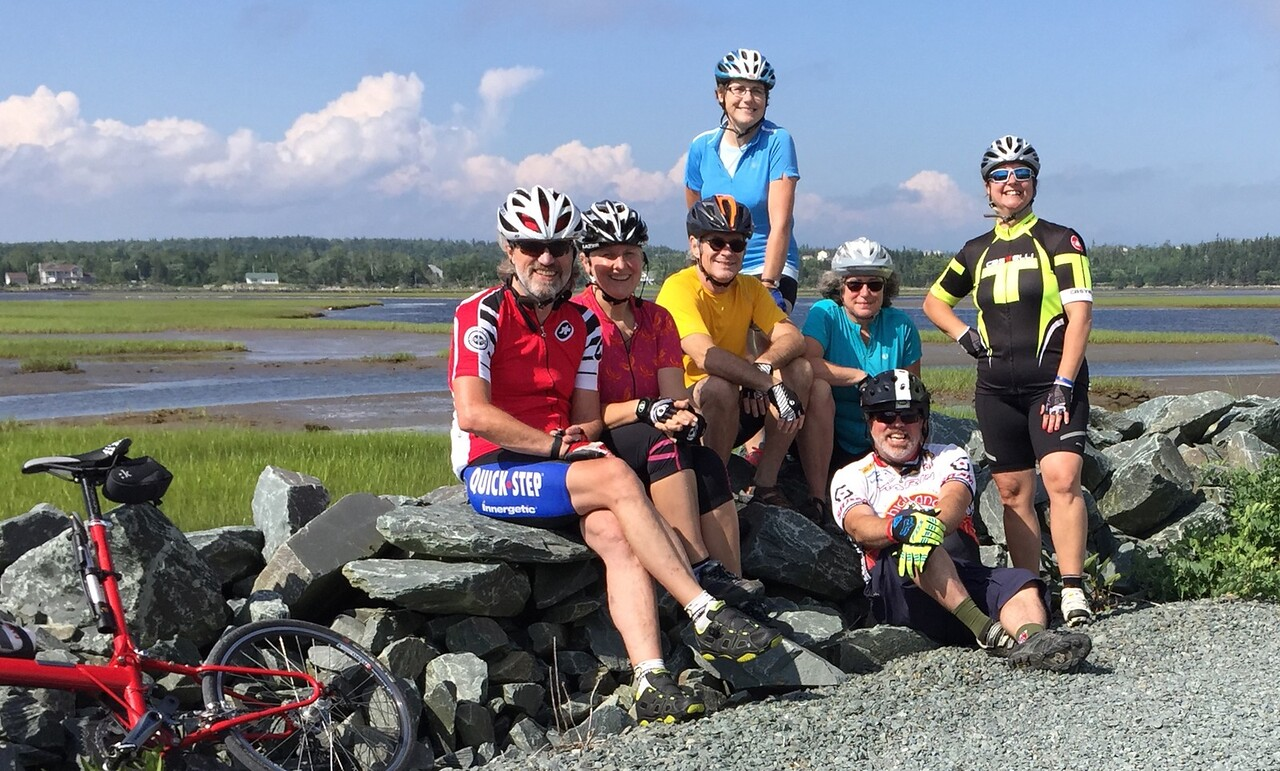 July 31: Family bike ride in Nova Scotia