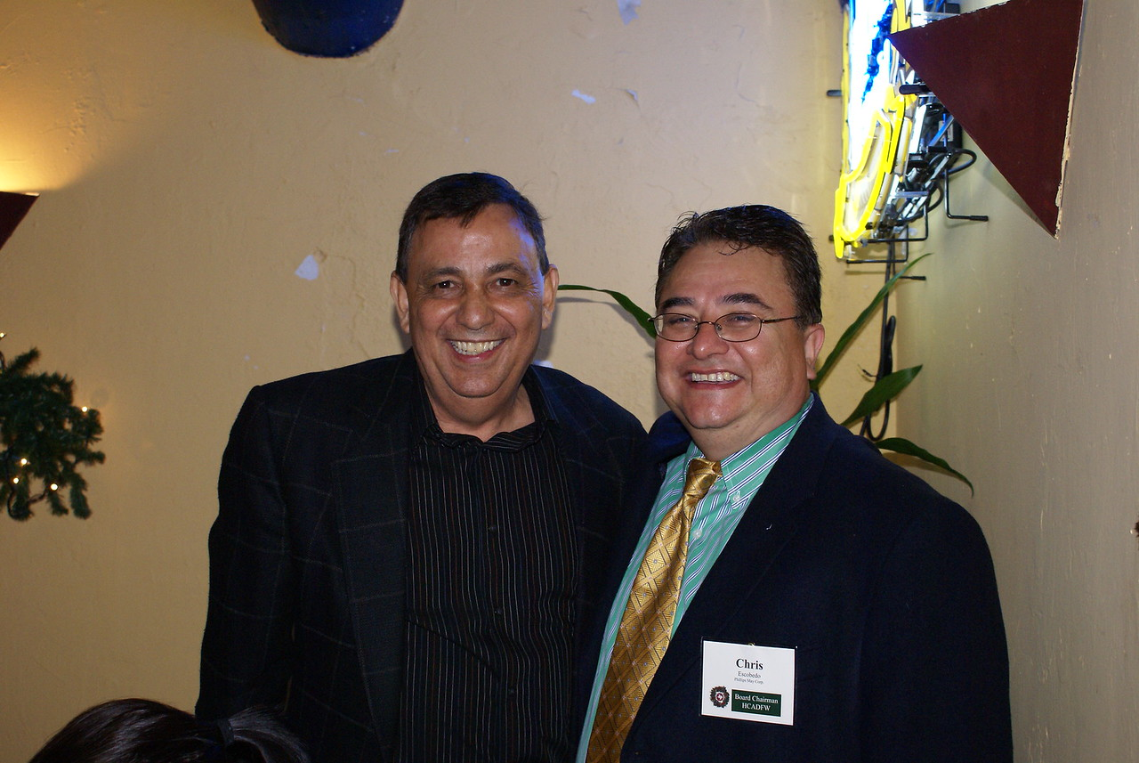 Gilbert May, Phillips/May Corp & Chris Escobedo, HCADFW Board Chairman (Phillips/May Corp)