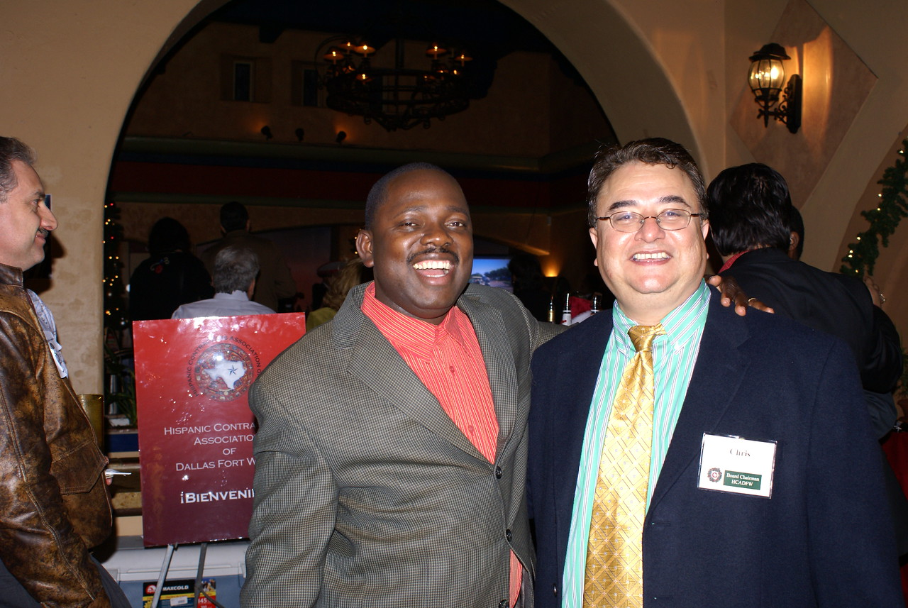 Dendy Peters, HCADFW Member & Chris Escobedo, HCADFW Board Chairman (Phillips/May Corp)