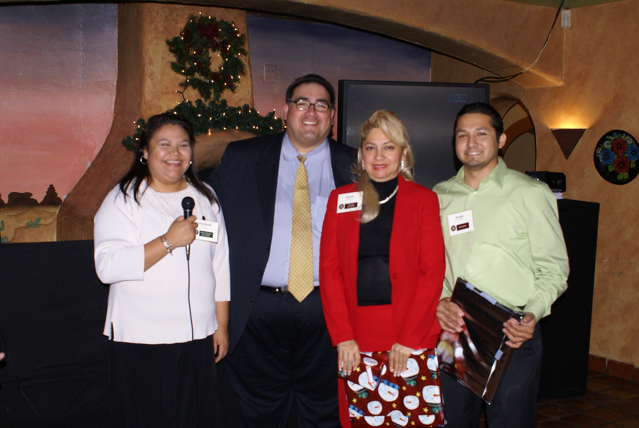 Elizabeth Chavez, HCADFW Board, (Ponce Contractors, Inc.); and HCADFW Staff John H. Martinez-D,; Sylvia Davila & Sergio Rodriguez