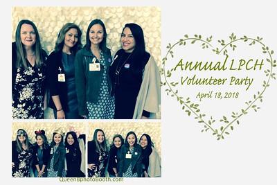Annual LPCH Volunteer Party 2018