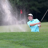 The annual Lowell City Junior Golf Tournament took place on Monday at Long Meadow Golf Club. Hitting out of the bunker is Matt Asselin, 15, of Lowell. SUN/JOHN LOVE