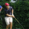 The annual Lowell City Junior Golf Tournament took place on Monday at Long Meadow Golf Club. Reacting to his tee shot is Cameron Sheedy, 17, from Pepperell. SUN/JOHN LOVE