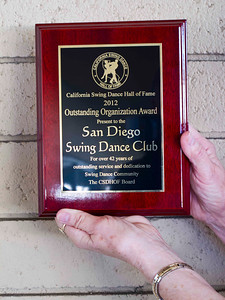 SDSDC Award for 42 Years of Excellence Photo by Bob Burns