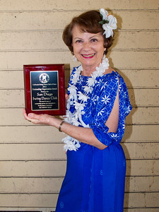 Ann Taylor with Club's Award Photo by Bob Burns