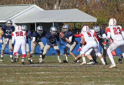Manasquan High School v/s Wall High School's annual Thanksgiving day game in Manasquan, NJ on 11/22/18. [DANIELLA HEMINGHAUS | THE COAST STAR]