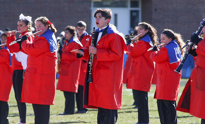 Wall High School band. Manasquan High School v/s Wall High School's annual Thanksgiving day game in Manasquan, NJ on 11/22/18. [DANIELLA HEMINGHAUS | THE COAST STAR]
