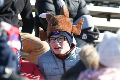 A Wall supporter. Manasquan High School v/s Wall High School's annual Thanksgiving day game in Manasquan, NJ on 11/22/18. [DANIELLA HEMINGHAUS | THE COAST STAR]