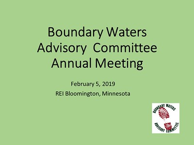 Learn more at https://www.meetup.com/Friends-of-BWCA-Trails/  and https://www.boundarywaterstrails.org/
