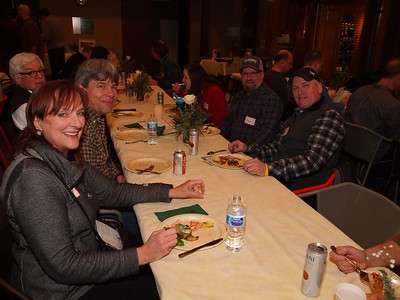 Enthusiastic attendees - dinner was fantastic.