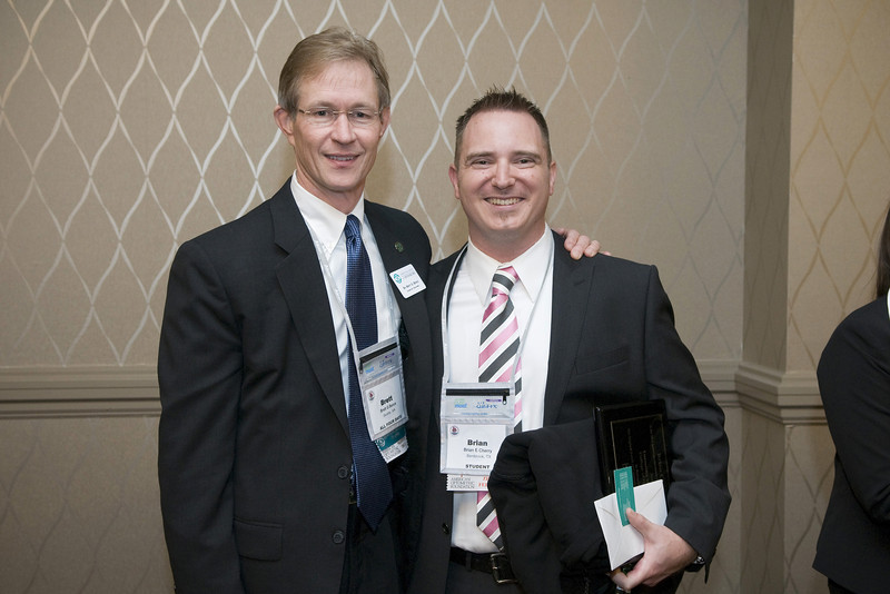 AOF - Carl Zeiss Fellow reception, AAO Board member, Brett Bence, and Fellow Brian Cherry