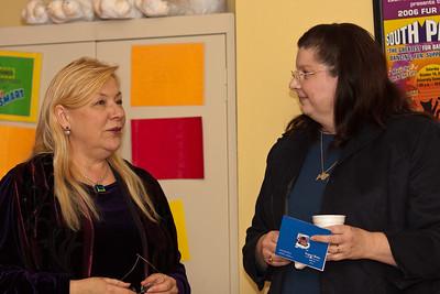 Lori Carlson, Volunteer Coordinator and Karen Ostendorp-Hardin, President
