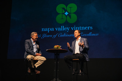 David Pearson talking with Joe Lacob, Owner and CEO of the Golden State Warriors at the NVV's 75th Anniversary Annual Meeting