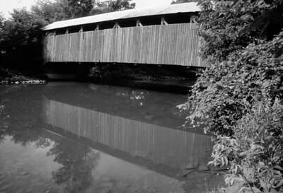 Covered Bridge, Pennsylvania, scan from slide