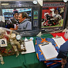 State Rep. Jim Arciero held his annual Sun Santa/Toys for Tots fundraiser at the Franco American Club in Westford on Thursday night, December 7, 2017. Some of the items in the silent auction. SUN/JOHN LOVE