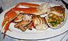 Fresh crab with cod