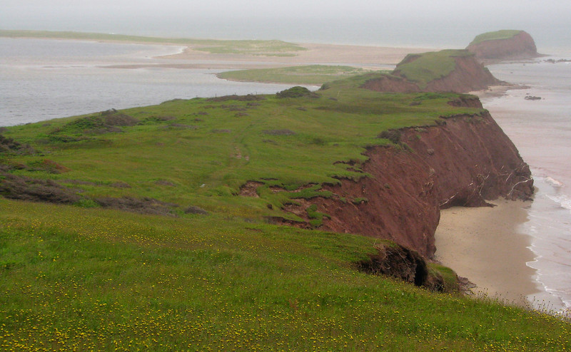Endless beaches of the Magdalen Islands.