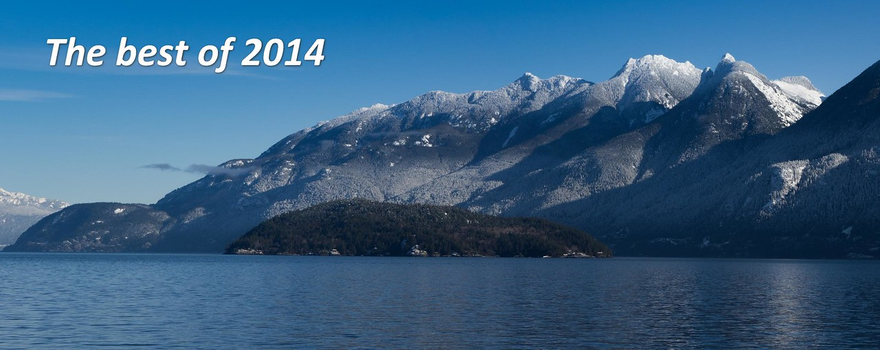 Looking up Howe Sound from the Bowen Island Ferry on an unusually clear day at the beginning of this year