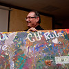"Al Vukasin helps parade around the ""CU Rules"" Canvas."