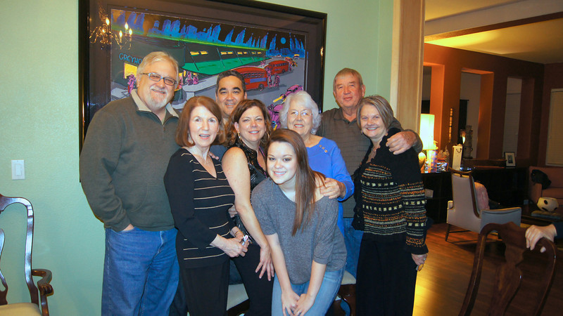 The family gang at Diane's birthday