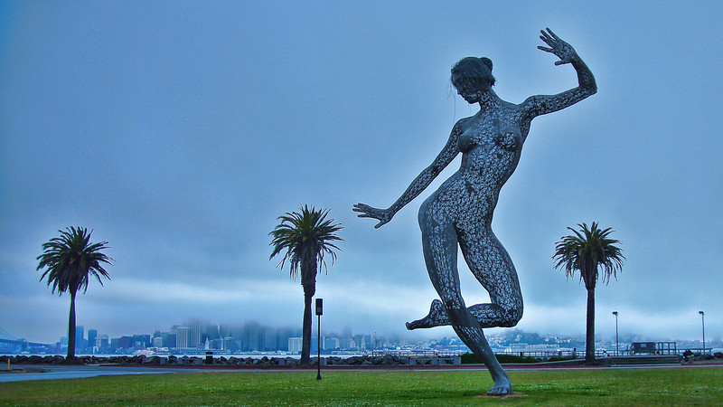 Bliss Dance, on Treasure Island in San Francisco Bay (Displayed at Burning Man in 2010)