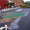 3D street painting from the wrong view