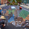 3D street painting from the right view