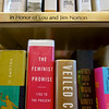 Library Shelf Dedication for Lou and JIm Norton