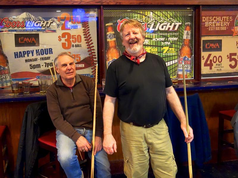 Pool Sharks Jim and Ron
