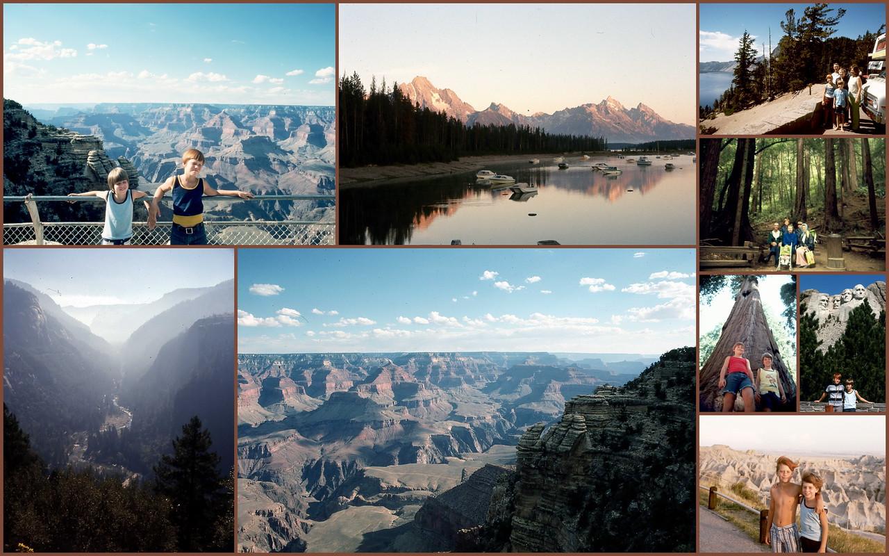 23 Days- Nine National Parks Visited in 1974
