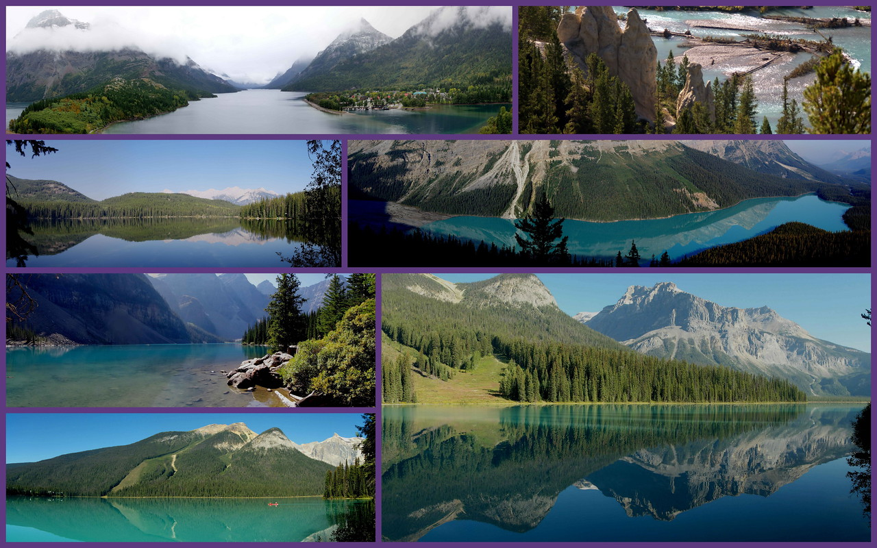 Waterton-Glacier, Banff, Jasper, Emerald Lake- Yoho  2012, 2013