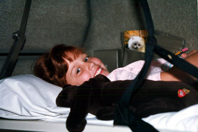Krista's upper bunk in our AMTRAK family compartment worked out nicely.