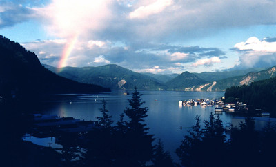 Rainbow chasing at Farragut on Lake Pend Orielle
