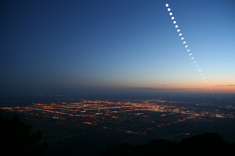 Annular eclipse over Albuquerque, NM