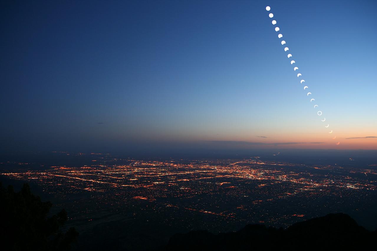 Annular eclipse over Albuquerque, NM