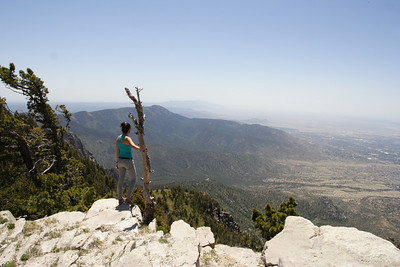 Enjoying the view from Sandia Crest
