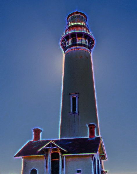 lighthouse with glow