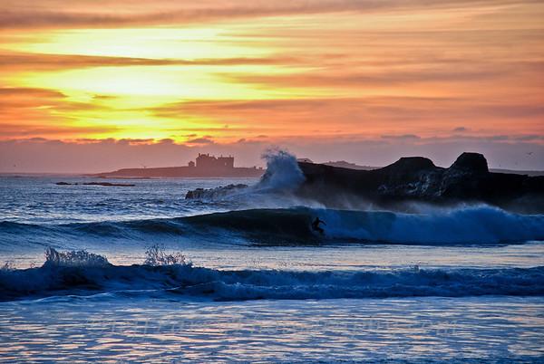 Sunset Surfer at Ano Nuevo