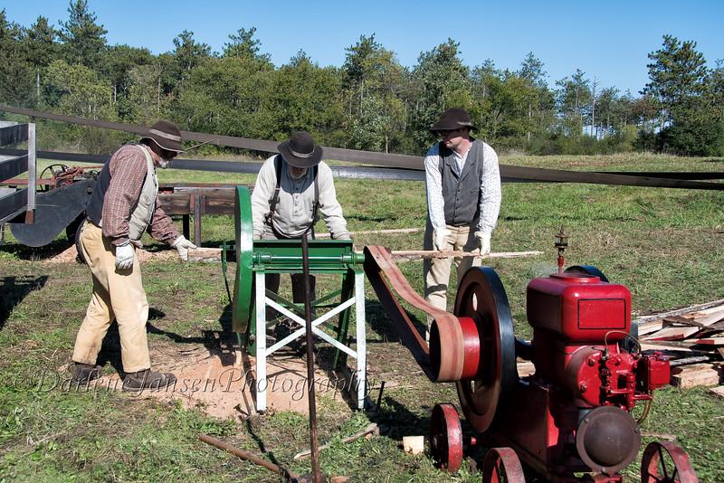Men hard at work at Old World Wisconsin