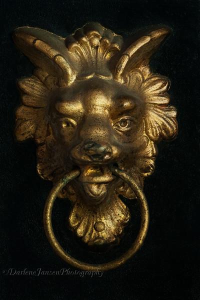 Wolf Head Antique Clock Ornament