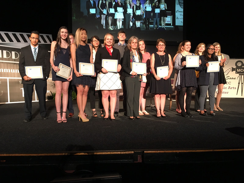 MCC students receive their scholarships