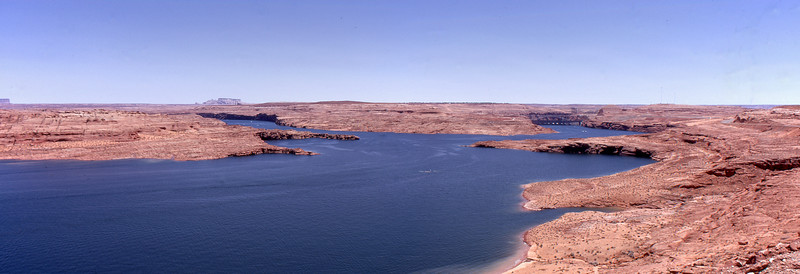 Lake Powell and Glenn Canyon Dam, AZ