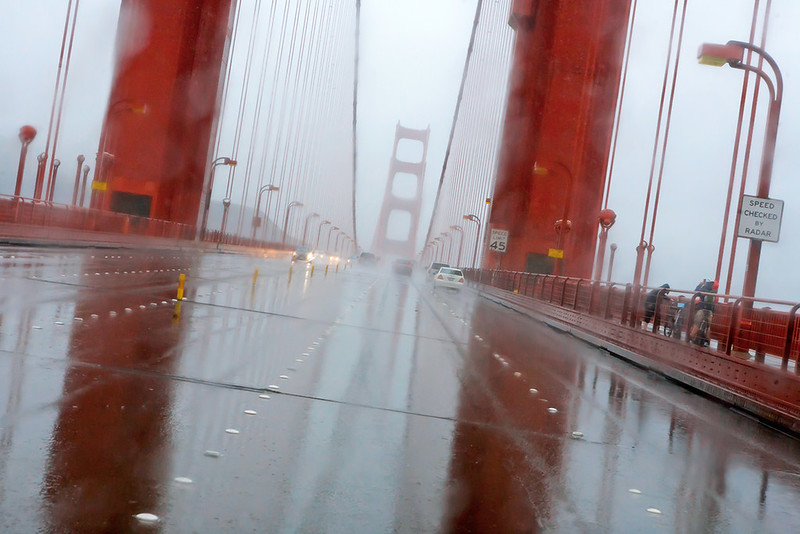 The bridge in the rain