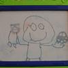 Ansel's eerste figuratieve tekening, ooit!