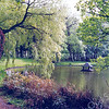An0044 <br /> Park Rusthoff, het voormalige landgoed van de familie Charbon. Sinds 1917 eigendom van de gemeente Sassenheim en ingericht als wandelpark. Foto: 1978.